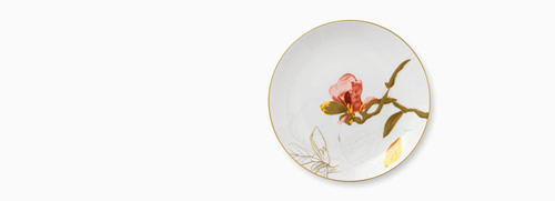 Magnolia Floral Plate