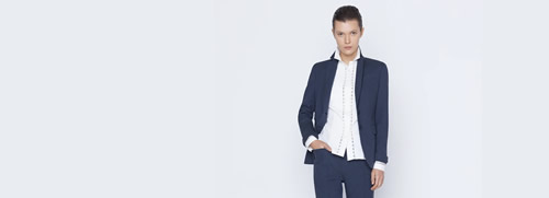 Blazer in Cotton Stretch
