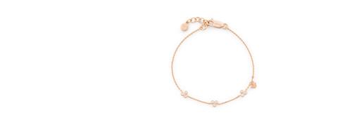 Rose Gold-Tone Sterling Silver Bracelet