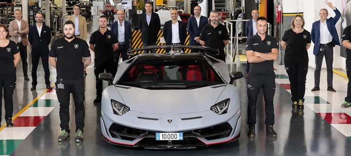 Lamborghini Produced the 10,000th Aventador