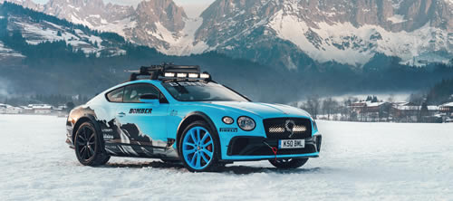 Bentley Continental GT  to Compete at GP Ice Race in Austria